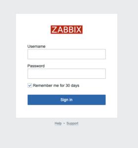 zabbix5ログイン画面