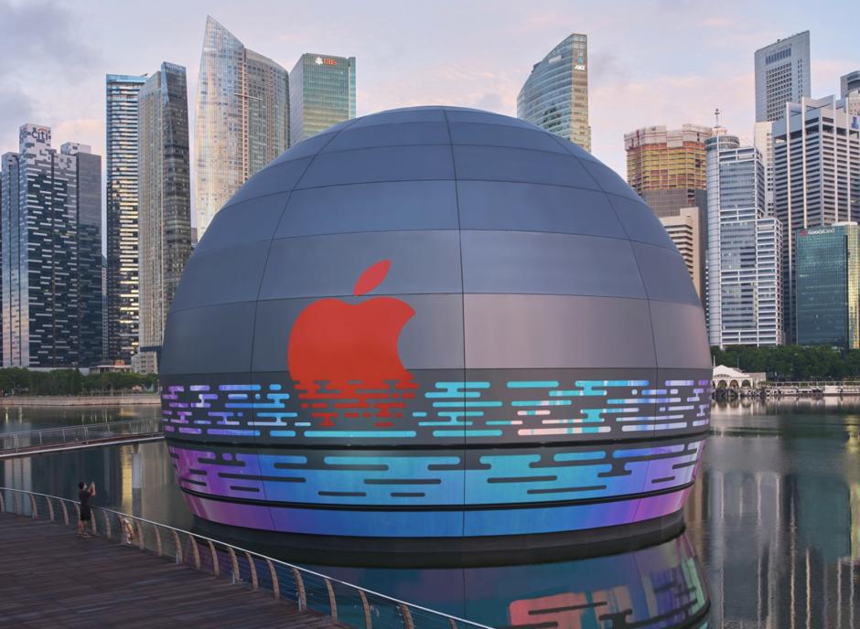 シンガポール水上アップルストア